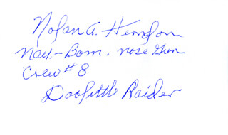 MAJOR NOLAN A. SUE HERNDON - AUTOGRAPH