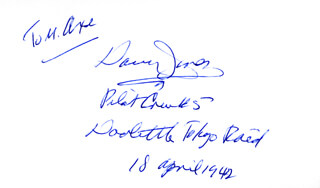 MAJOR GENERAL DAVY (DAVID M.) JONES - INSCRIBED SIGNATURE