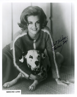 MARJORIE LORD - PRINTED PHOTOGRAPH SIGNED IN INK