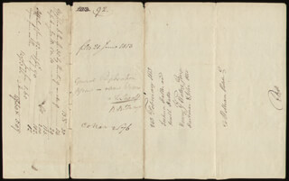 Autographs: CHIEF JUSTICE ROGER B. TANEY - DOCUMENT SIGNED 02/21/1813