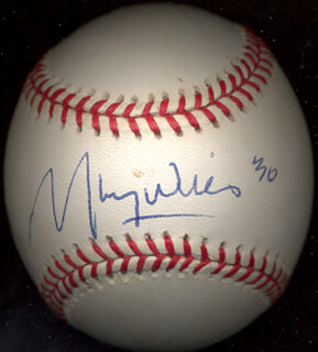 MAURY WILLS - AUTOGRAPHED SIGNED BASEBALL CIRCA 1999