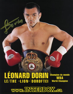 LEONARD THE LION DORIN - AUTOGRAPHED SIGNED PHOTOGRAPH