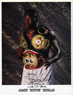 JAMES BUSTER DOUGLAS - AUTOGRAPHED INSCRIBED PHOTOGRAPH