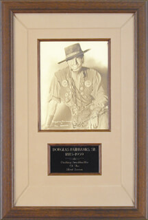 DOUGLAS FAIRBANKS SR. - AUTOGRAPHED SIGNED PHOTOGRAPH