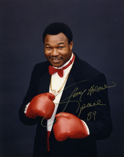 LARRY HOLMES - AUTOGRAPHED SIGNED PHOTOGRAPH 1989