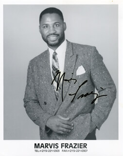 MARVIS FRAZIER - AUTOGRAPHED SIGNED PHOTOGRAPH