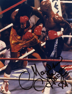 MARVELOUS MARVIN HAGLER - AUTOGRAPHED SIGNED PHOTOGRAPH 1989