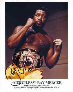 RAY MERCER - AUTOGRAPHED SIGNED PHOTOGRAPH 1999