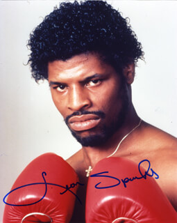 LEON SPINKS - AUTOGRAPHED SIGNED PHOTOGRAPH