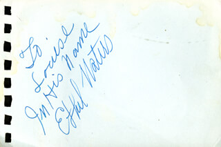 Autographs: ETHEL WATERS - AUTOGRAPH NOTE SIGNED