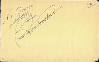 Autographs: EDDIE ROCHESTER ANDERSON - INSCRIBED SIGNATURE IN CHARACTER
