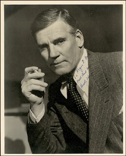 WALTER HUSTON - AUTOGRAPHED INSCRIBED PHOTOGRAPH