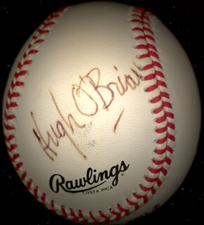 Autographs: HUGH O'BRIAN - BASEBALL SIGNED