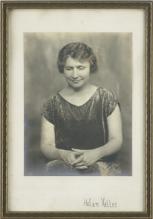 HELEN KELLER - PHOTOGRAPH MOUNT SIGNED
