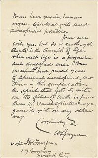 GENERAL WILLIAM SPRAGUE - AUTOGRAPH LETTER SIGNED 06/17/1888