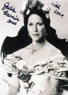 JULIE HARRIS - AUTOGRAPHED SIGNED PHOTOGRAPH 2006