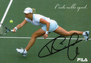 KIM CLIJSTERS - AUTOGRAPHED SIGNED PHOTOGRAPH