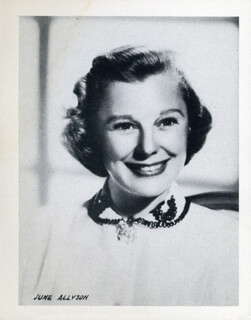 Autographs: JUNE ALLYSON - PHOTOGRAPH UNSIGNED