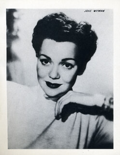 JANE WYMAN - PICTOGRAPH UNSIGNED