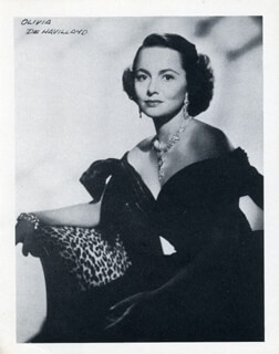 OLIVIA DE HAVILLAND - PHOTOGRAPH UNSIGNED