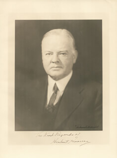 Autographs: PRESIDENT HERBERT HOOVER - PHOTOGRAPH SIGNED
