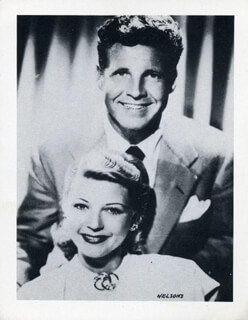 OZZIE NELSON - PHOTOGRAPH UNSIGNED WITH HARRIET HILLIARD NELSON