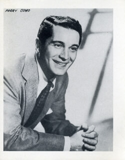 PERRY COMO - PHOTOGRAPH UNSIGNED