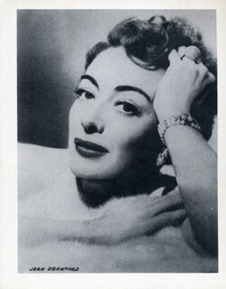 JOAN CRAWFORD - PHOTOGRAPH UNSIGNED