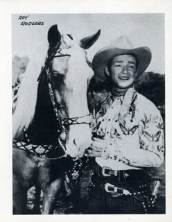 ROY ROGERS - PHOTOGRAPH UNSIGNED