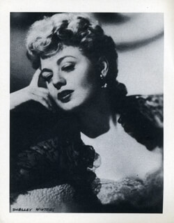 SHELLEY WINTERS - PHOTOGRAPH UNSIGNED