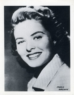 INGRID BERGMAN - PHOTOGRAPH UNSIGNED