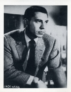 JACK WEBB - PHOTOGRAPH UNSIGNED