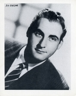 SID CAESAR - PHOTOGRAPH UNSIGNED
