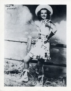 DALE EVANS - PHOTOGRAPH UNSIGNED