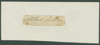 Autographs: ALBERT GALLATIN - SIGNATURE(S)