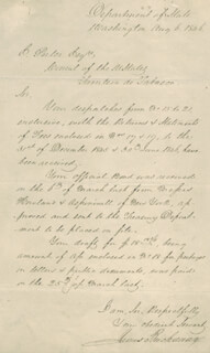 Autographs: PRESIDENT JAMES BUCHANAN - MANUSCRIPT LETTER SIGNED 08/06/1846