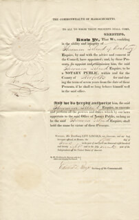 Autographs: LEVI LINCOLN SR. - DOCUMENT SIGNED 06/05/1828