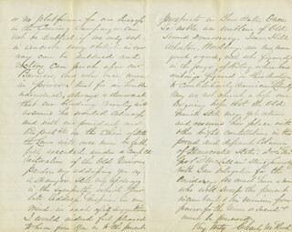 CHARLES M. REED - AUTOGRAPH LETTER SIGNED 07/28/1864