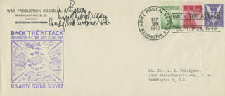 GENERAL MATTHEW B. RIDGWAY - SPECIAL COVER SIGNED
