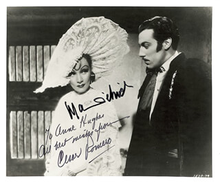 THE DEVIL IS A WOMAN MOVIE CAST - AUTOGRAPHED INSCRIBED PHOTOGRAPH CO-SIGNED BY: MARLENE DIETRICH, CESAR ROMERO