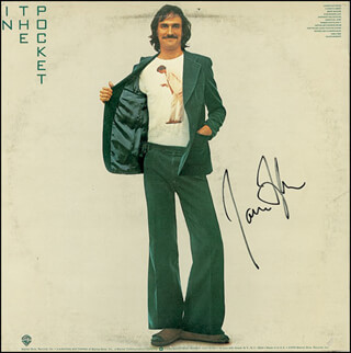 JAMES TAYLOR - RECORD ALBUM COVER SIGNED