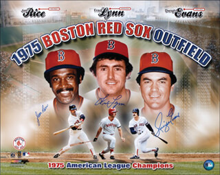 BOSTON RED SOX - AUTOGRAPHED SIGNED PHOTOGRAPH CO-SIGNED BY: DWIGHT DEWEY EVANS, FRED LYNN, JIM RICE