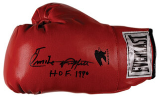 EMILE GRIFFITH - BOXING GLOVE SIGNED