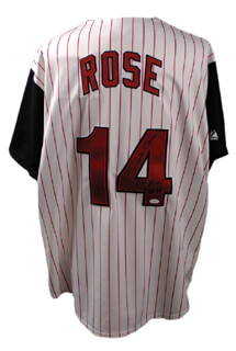 Autographs: PETE ROSE - JERSEY SIGNED