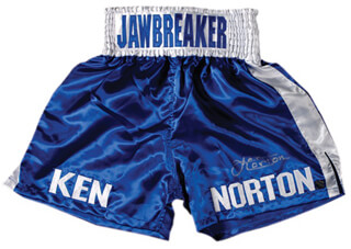KEN NORTON - BOXING TRUNKS SIGNED