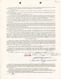 THE LENNON SISTERS - DOCUMENT SIGNED 06/30/1967 CO-SIGNED BY: THE LENNON SISTERS (KATHY LENNON), THE LENNON SISTERS (JANET LENNON), THE LENNON SISTERS (PEGGY LENNON), THE LENNON SISTERS (DIANNE LENNON)