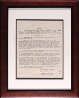 MICKEY BLACK MIKE COCHRANE - DOCUMENT SIGNED 06/01/1950