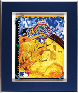 THE NEW YORK YANKEES - PROGRAM SIGNED CO-SIGNED BY: MARIANO RIVERA, JOE GIRARDI, RUBEN RIVERA