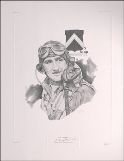 COLONEL FRANCIS S. GABBY GABRESKI - PRINTED ART SIGNED CO-SIGNED BY: J. G. KECK