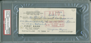 MARQUES HAYNES - AUTOGRAPHED SIGNED CHECK 04/01/1970